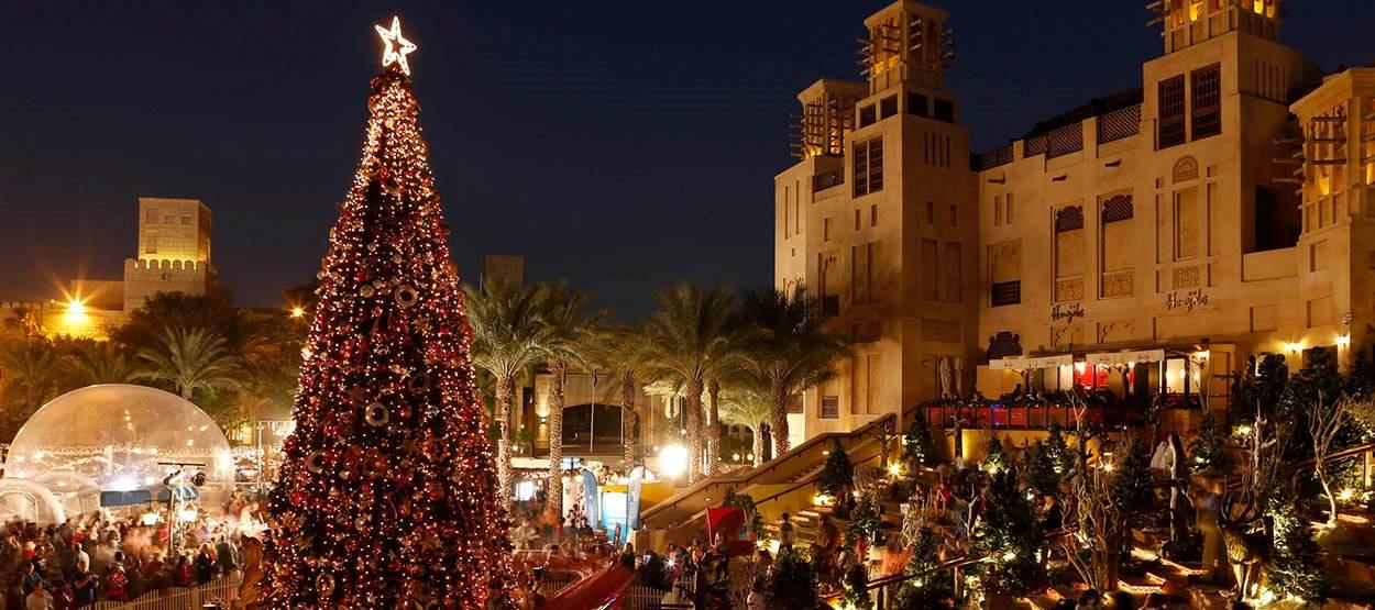 Kerstmarkt in Dubai