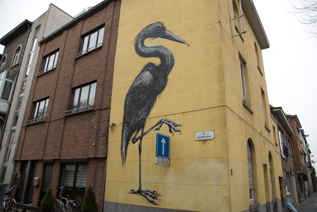 Herkenbare straatkunst van ROA