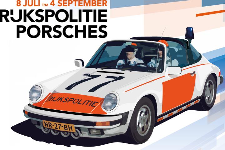 Tentoonstelling 'Rijkspolitie Porsches' in Louwman Museum