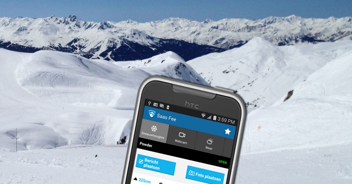 Wintersport en mobiele telefonie