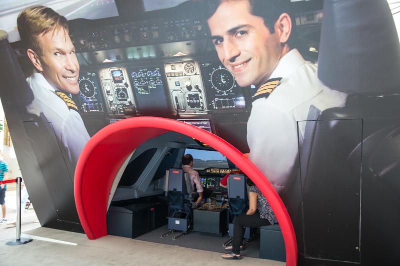 Een A380 besturen in Dubai