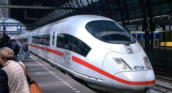 met de trein naar Duitsland