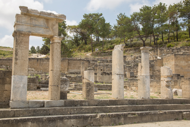 De oude stad Kamiros