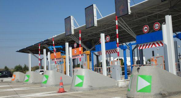 Tol poort station onderweg naat italie