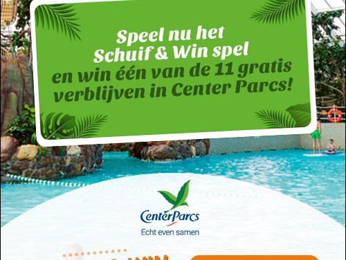 Schuif en Win een Center Parcs vakantie