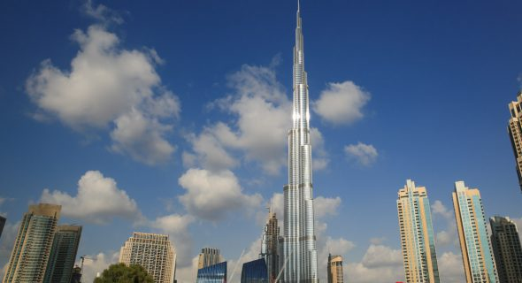 De prachtige Burj Khalifa in Dubai