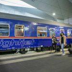 De Nachttrein naar Wenen rijdt