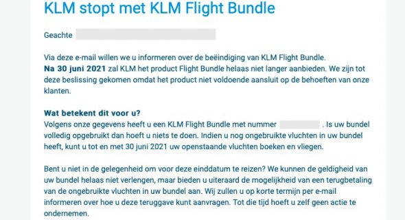 KLM flightbundle